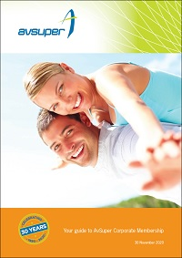 Cover of A guide to AvSuper for Corporate Members