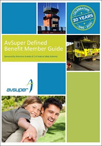 Cover of a AvSuper Defined Benefit and CSS member guide