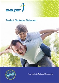Cover of AvSuper Product Disclosure Statement